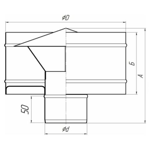 Дефлектор TMF ф115-200, 0,5мм размеры