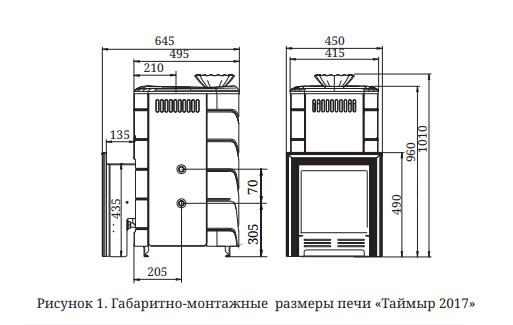 ТМФ таймыр xxl размеры