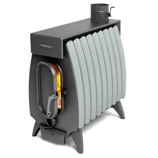 Печь ТМФ Огонь Батарея 9 Лайт Серый конвектор