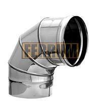 Колено угол 90* (430/0,5мм) d80 Феррум